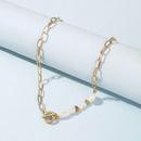 New fashion natural freshwater pearl asymmetric womens short necklace  NHLU248912