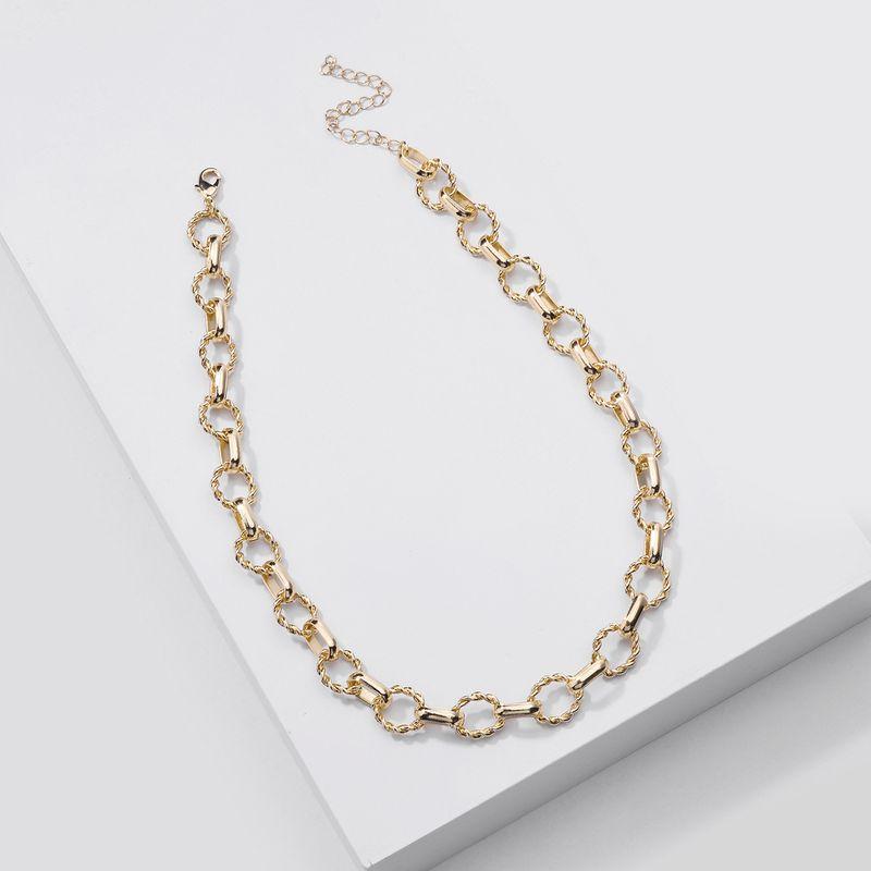 New fashion handmade twist chain women's mid-length necklace for women NHLU248915