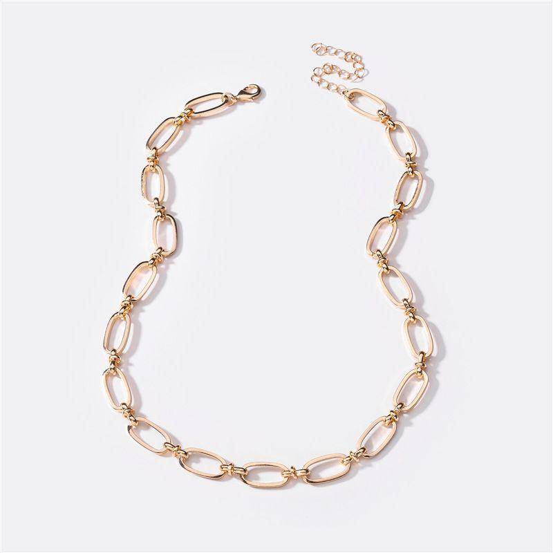 new fashion jewelry handmade chain womens midlength necklace  NHLU248917