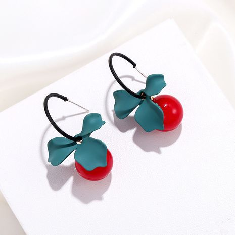 new round bead pendant long style simple flower earrings wholesale nihaojewelry NHPF248929's discount tags