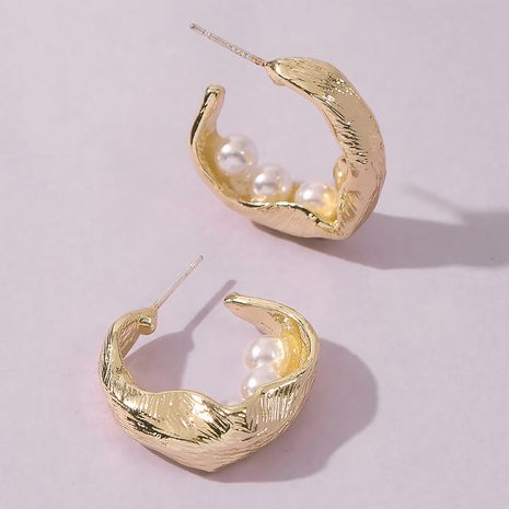 Fashion Irregular Pearl Stud Earrings For women hot-saling wholesale NHMD249055's discount tags