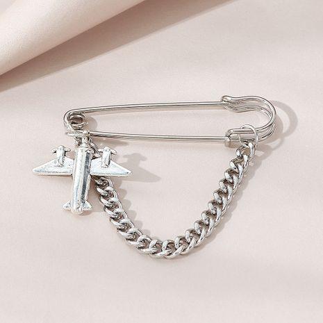 Broche de aleación de avión pequeño de línea de tendencia salvaje de moda coreana para mujer NHPS248780's discount tags