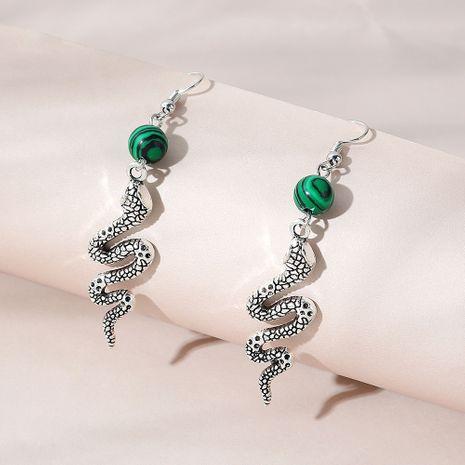 Korean fashion wild tide snake alloy earrings for women wholesale NHPS248783's discount tags