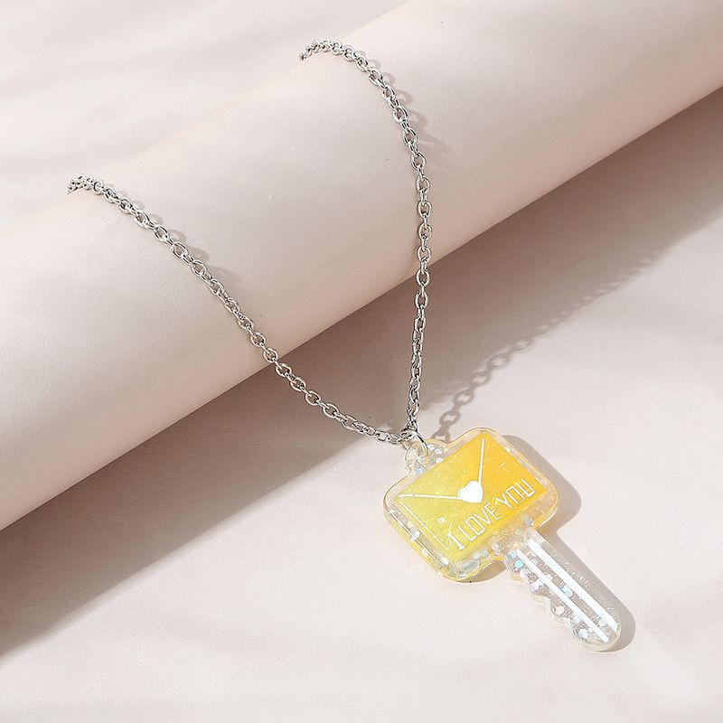 fashionable wild simple alloy engliash letter key sweater chain NHPS248789