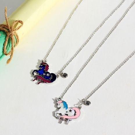 New simple BestFriend Unicorn Baby Jewelry Pendant necklace wholesale NHNU248525's discount tags
