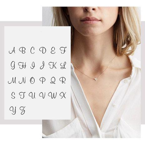 Collar de corazón de acero de titanio tallado con 26 letras Love NHTF248624's discount tags