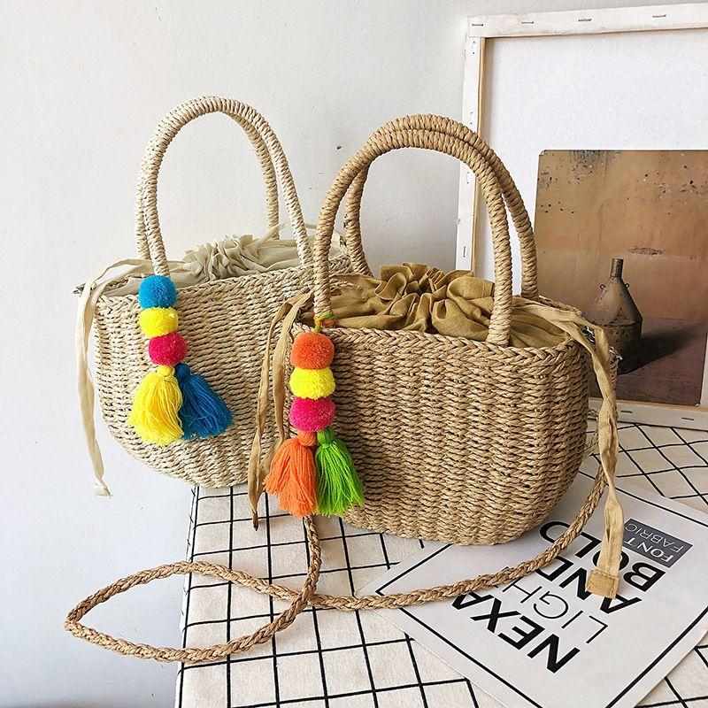 Summer straw small bag popular new fashion one-shoulder messenger handbag wholesale NHLH248974