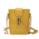 new trendy wild oneshoulder messenger chain crocodile pattern mobile phone bag NHLH248976