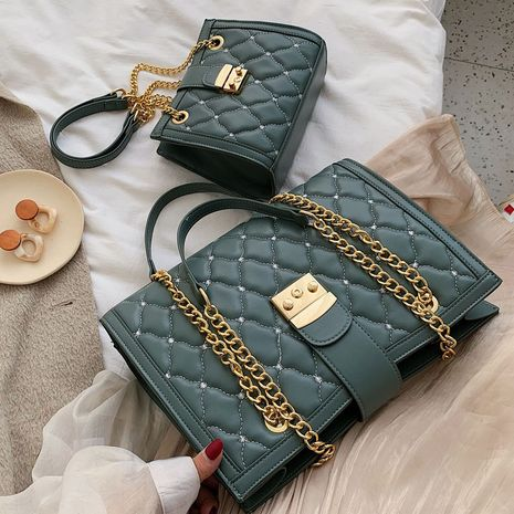 new fashion shoulder Korean messenger Lingge chain small bag wholesale NHLH248990's discount tags