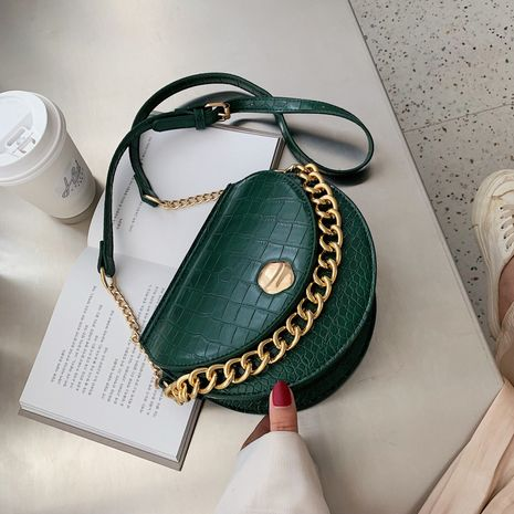 Summer new Korean saddle bag retro casual stone pattern shoulder chain bag wholesale NHLH249009's discount tags