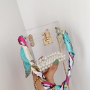new trendy lock silk scarf chain fashion single shoulder messenger bag for women NHLH249011