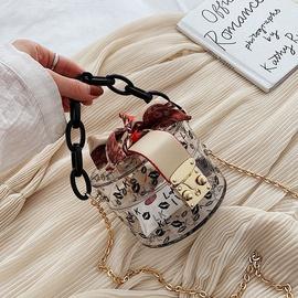 new retro transparent small round bag fashion all-match messenger bag wholesale NHLH249030