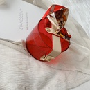 new trendy retro fashion portable small round Korean silk scarf messenger shoulder transparent bag for women  NHLH249034