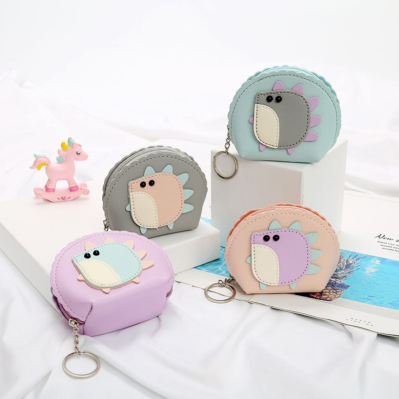 Fashion ladies mini key case cute cartoon hedgehog coin purse mini storage bag wholesale NHAE249059