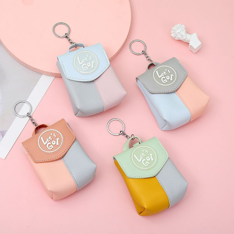hit color student letter cute key earphone storage coin purse wholesale NHAE249063