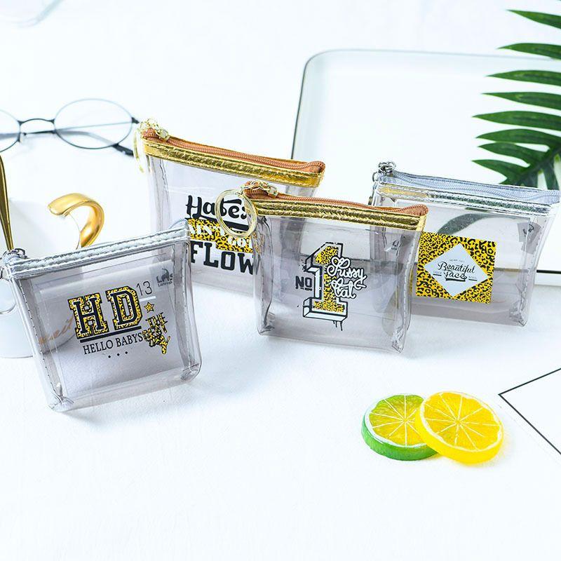 Fashion transparent leopard letter ladies mini wallet coin purse wholesale NHAE249068