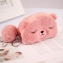 Korea fashion new plush bear ladies wallet coin purse wholesale NHAE249070