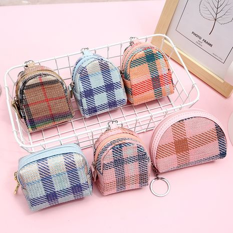 hot-saling fashion ladies clutch sequins plaid shell mini backpack coin purse wholesale NHAE249071's discount tags