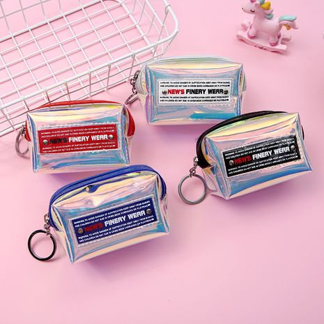Korea new laser jelly wallet storage letter coin purse ladies gifts wholesale NHAE249074's discount tags