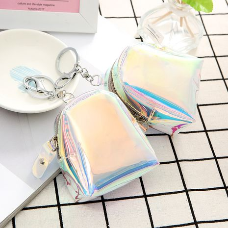 hot-selling laser mini key ring headset video storage coin purse wallet wholesale NHAE249084's discount tags