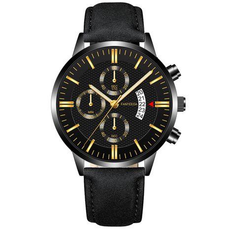 Reloj de negocios con cinturón para hombre con calendario de tres ojos ultrafino NHSS249089's discount tags