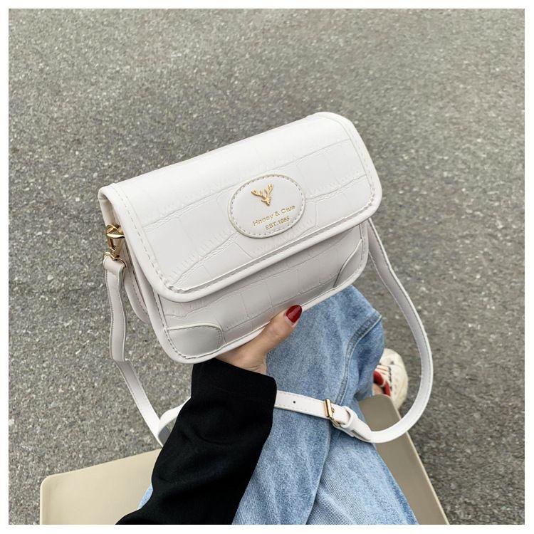 new Korean fashion allmatch crocodile pattern messenger small square bag wholesale NHTC249251