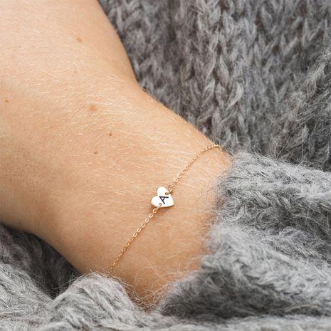 nueva moda 316L acero titanio grabado 26 letras pulsera simple para mujer NHTF249333's discount tags