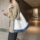 Simple largecapacity bag new fashion simple contrast single shoulder tote bag wholesale NHJZ249388