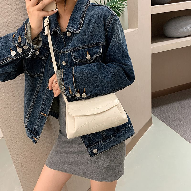 spring and autumn handbags new allmatch crocodile pattern messenger fashion shoulder chain bag  wholesale NHJZ249389
