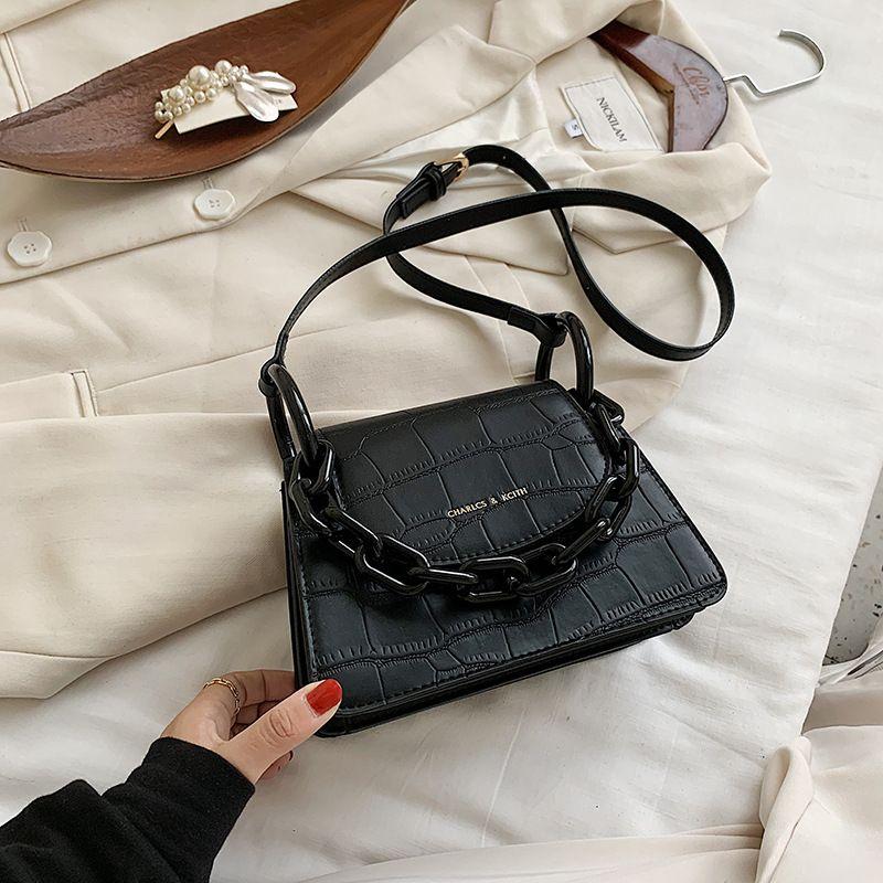 Crocodile texture handbags popular new fashion all-match single shoulder messenger small square bag wholesale NHJZ249412