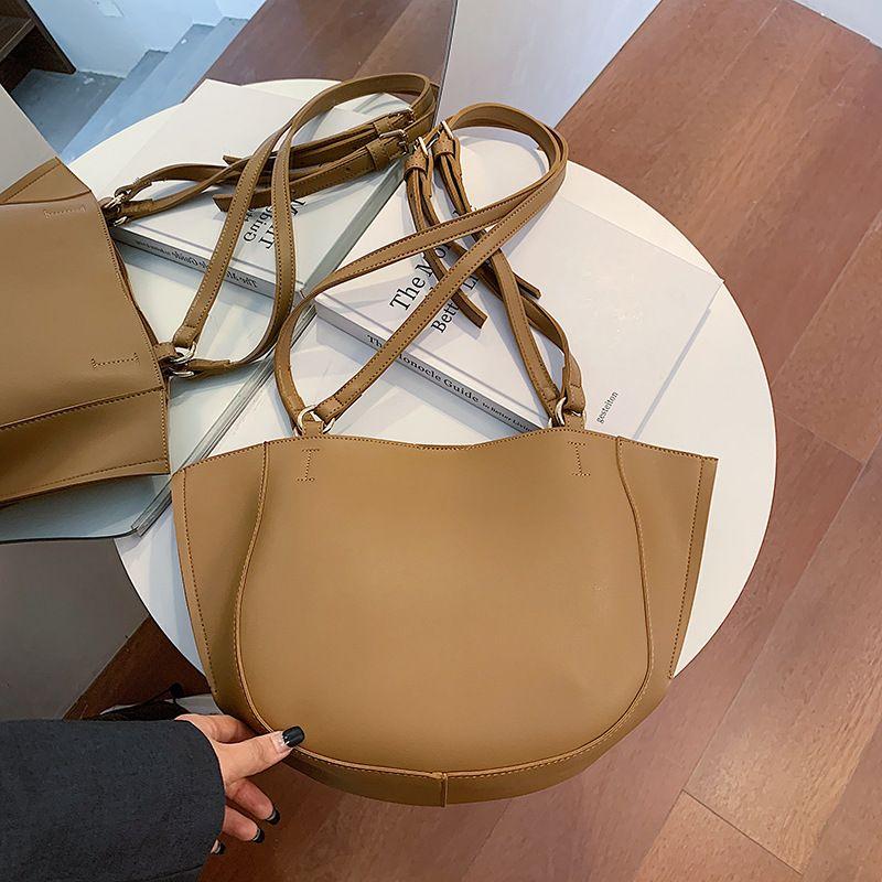 large capacity retro  simple messenger bag fashion all-match handbag wholesale NHJZ249425