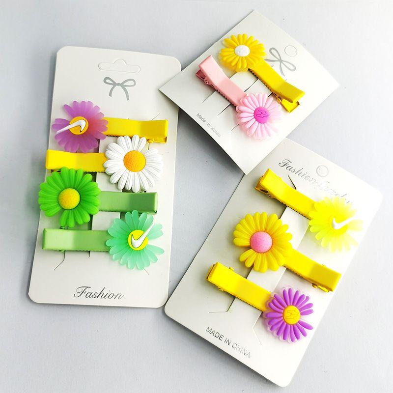 Fashion daisy cute headdress side bangs hair clip girls small hairpin NHDI249446