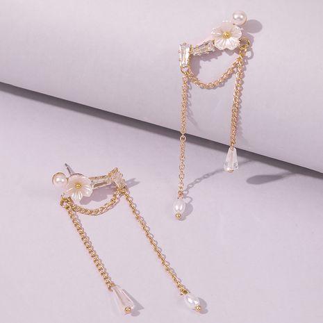 Tassel  Pearl Flower Earrings wholesale nihaojewelry NHMD249967's discount tags