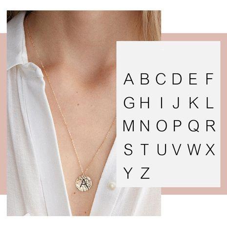 Collar colgante de letras nuevas de oro rosa de acero inoxidable de moda al por mayor NHTF249331's discount tags