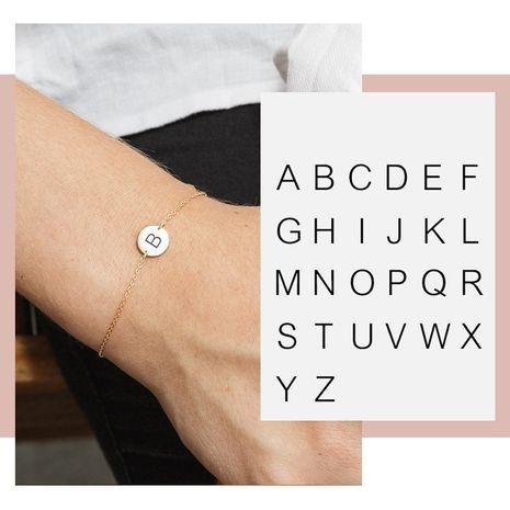 Venta caliente Moda Letras Pulsera de joyería de mano de acero inoxidable para mujeres simples NHTF249361's discount tags