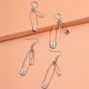 Fashion trend doublelayer paper clip buckle pin back clip tassel earrings 2 pairs NHPV249507