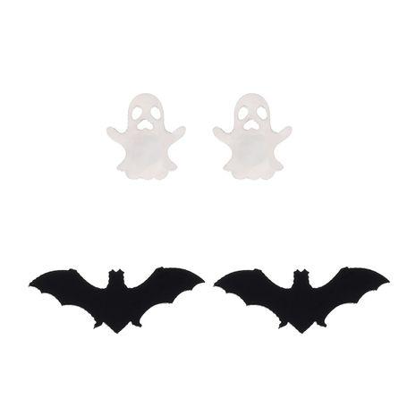 Nueva combinación de fantasmas de murciélago acrílico de Halloween 2 pares de pendientes para hombres y mujeres NHPV249555's discount tags