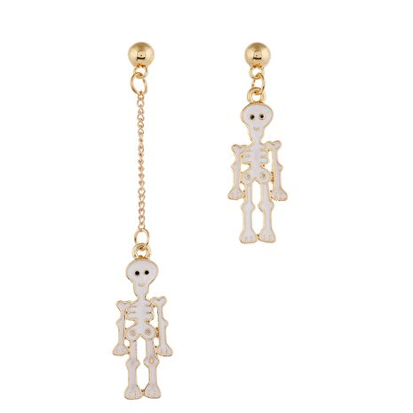 new Halloween fun white skull irregular earrings for women one-piece NHPV249549's discount tags