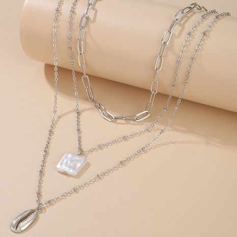 fashion alloy shell simple chain handmade pendant necklace for women NHGY249563's discount tags
