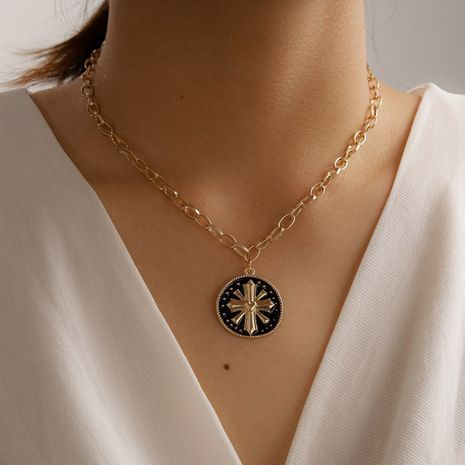 Fashion cross  simple cross alloy geometric necklace for women NHGY249577's discount tags