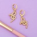 Boucles d39oreilles en cuivre serpent petit serpent gomtrique simple NHAS249588