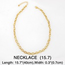 Womens diamond thick chain hiphop  punk style clavicle chain copper necklace  NHAS249587