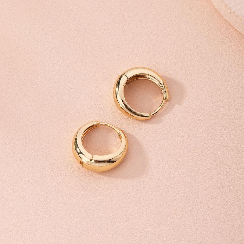 new fashion simple metal wild circle niche alloy earrings for women NHAI249639