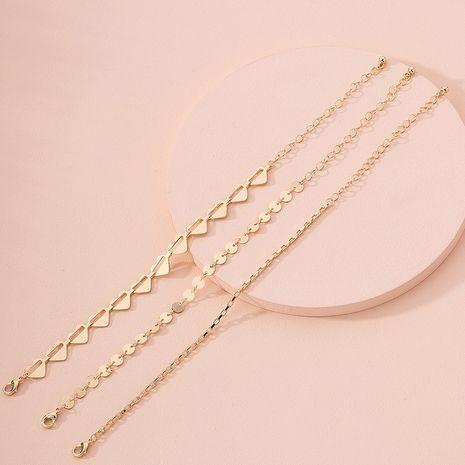 Fashion simple women's love-shaped alloy Bracelet of 3 sets wholesale NHAI249640's discount tags