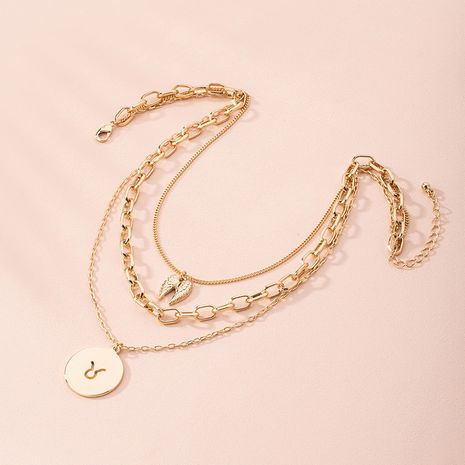 New fashion flower simple muti-layer alloy necklace for women wholesale  NHAI249642's discount tags
