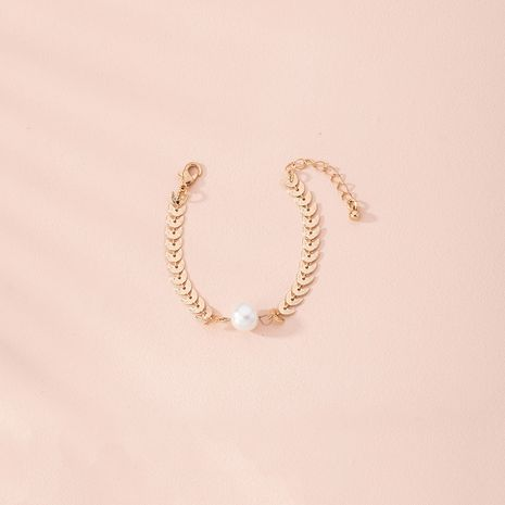 Pulsera de aleación exquisita de perlas de moda para mujeres al por mayor NHAI249649's discount tags
