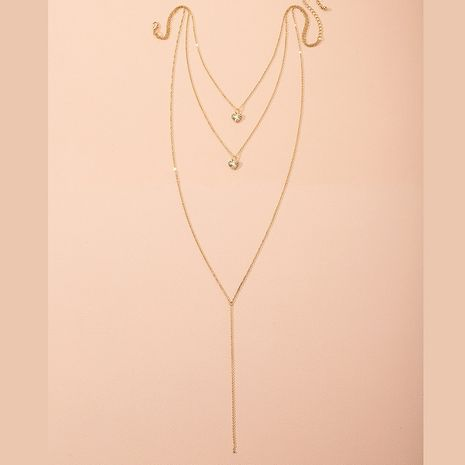 New simple fashion style heart-shaped alloy pendant popular necklace wholesale  NHAI249653's discount tags