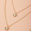New simple fashion style heartshaped alloy pendant popular necklace wholesale  NHAI249653