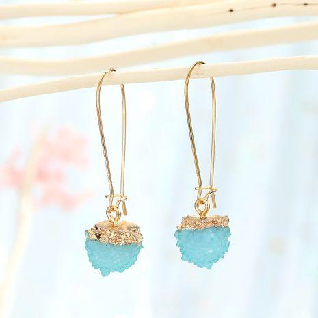 Boucles d'oreilles boule de bayberry en pierre naturelle imitation coréenne boucles d'oreilles boule de fleur de glace rétro en gros NHGO249673's discount tags