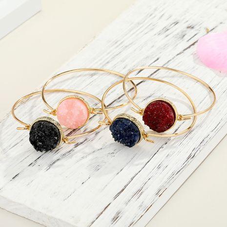 couleur résine bracelet en pierre naturelle ouverture bracelet en cristal imitation bourgeon en gros NHGO249676's discount tags
